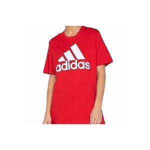 adidas • red logo tee